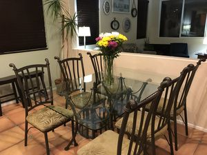 Glass Dining Table with Chairs for Sale in San Diego, CA