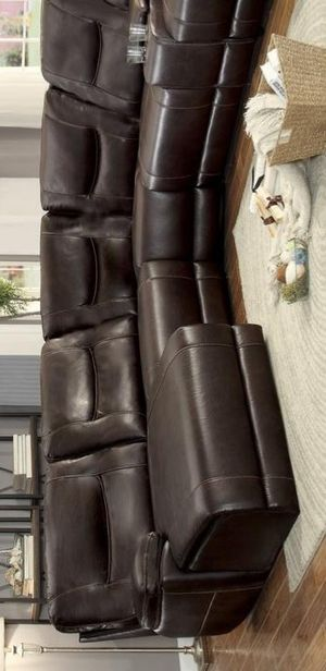 XY.Columbus Brown Reclining LAF Chaise Sectional for Sale in Jessup, MD