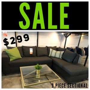 Charcoal Grey 2PC Sectional 🔥 for Sale in Hialeah, FL
