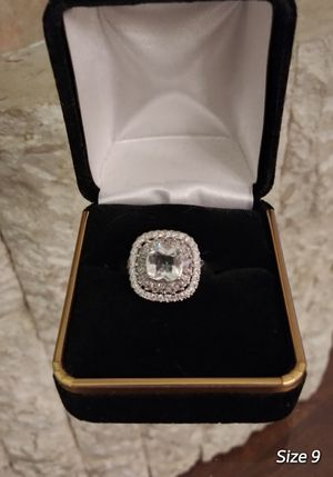 $12 brand new size 9 silver plated CZ ring for Sale in Manchester, MO