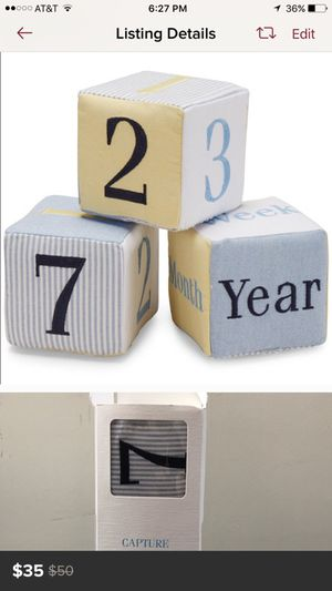 Numbers for baby's milestones for Sale in Los Angeles, CA