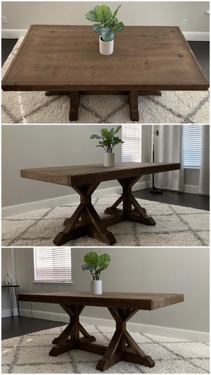 6FT x 3FT Solid Wood Rustic Farmhouse Dining Table for Sale in San Francisco, CA