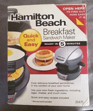 Hamilton Beach Breakfast Sandwich Maker for Sale in Pawtucket, RI