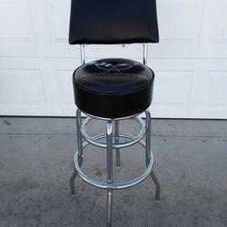 Corvette Black Padded Shop Stool W/Backrest for Sale in Dunnellon,  FL