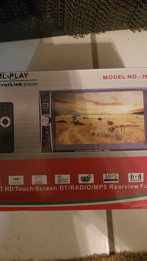 """Indash 7"""" HD Double DIN indash Touchscreen Radio with backup camera for Sale in Cary, NC"""