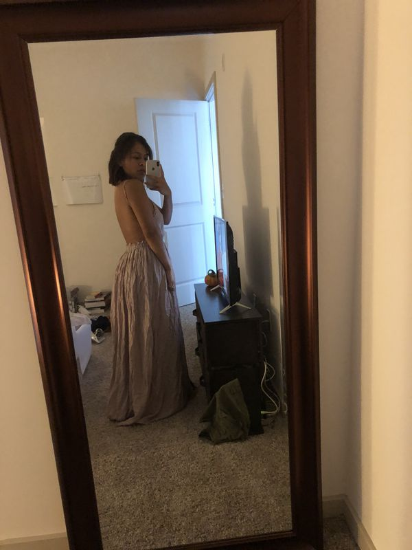 Purple-ish long dress