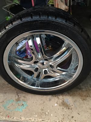 U2 chrome rims. 245/40 18 tires. 5x112 bolt pattern for Sale in San Diego, CA