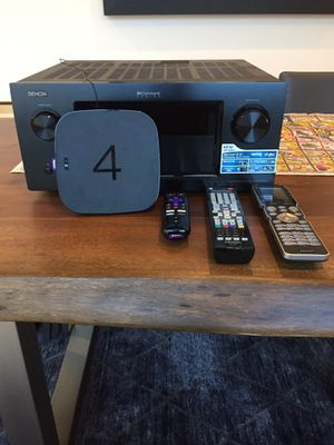 Denon AVR-4520CI, Roku 4, and Universal Remote for Sale in Los Angeles, CA