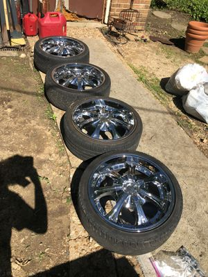 Dub Rims with tires. for Sale in Valley Park, MO