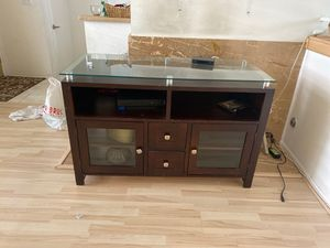 Glass top tv stand for Sale in Canyon Country, CA