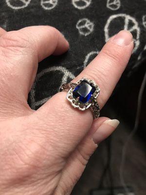 Beautiful sterling sliver vintage blue stone ring for Sale in San Bernardino, CA