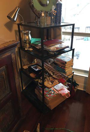 Glass shelf organizer/table for Sale in San Antonio, TX