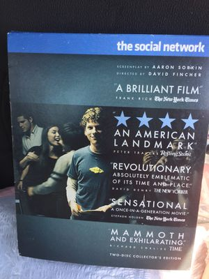 The Social Network Collectors Edition Blu-ray for Sale in Spring Valley, MN