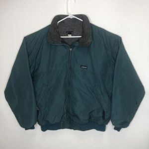 Vintage Patagonia Green Full Zip Sweater Jacket Zip Pockets Men's XL for Sale in Chino, CA