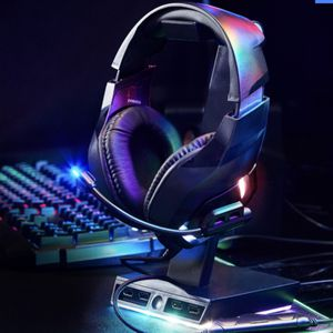 LED gaming headset w/ boom mic, 3.5mm aux-in + PC connector for Sale in Rowland Heights, CA