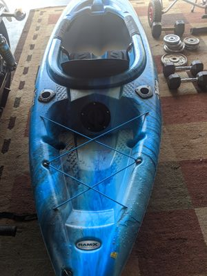 Hybrid kayak for cruising and fishing...great for lakes or ocean... about 1 year old with minor scuffs on the bottom..stored Indoors..pretty much. New for Sale in Covina, CA