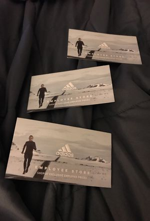 ADIDAS EMPLOYEE STORE PASS (MAY) 5/29/18 for Sale in Portland, OR