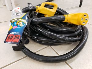 NEW Camco 30Ft RV 50Amp Male Female Extension Cord: njft seasonal tools for Sale in Burlington, NJ