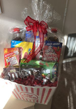 Movie Night Gift Basket for Sale in Plantation, FL