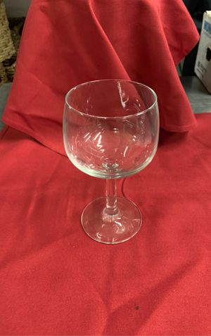 Red wine balloon glass for Sale in Beverly, MA
