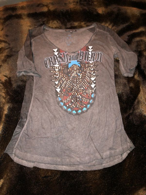 Crash and Burn women's embellished shirt