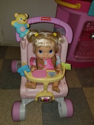 Fisher Price Stroller and baby Alive for Sale in Ontario, CA