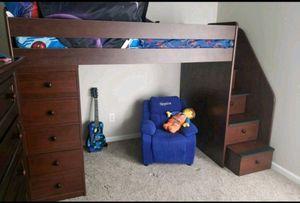 Espresso Twin Loft Bed for Sale in Charlotte, NC