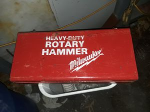 1 1/2 Milwaukee rotary hammer drill with bits for Sale in Methuen, MA