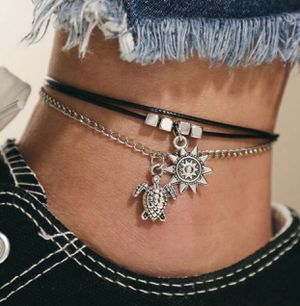 Tortoise Charm Layered Anklet for Sale in Fresno, CA
