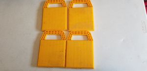 Camco RV Set of 4 Stabilizing Jack Pad Blocks Yellow for Sale in Little Elm, TX
