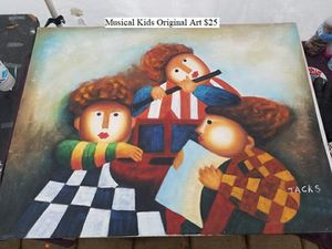 Musical Kids Original Art $25 for Sale in Dresden, OH
