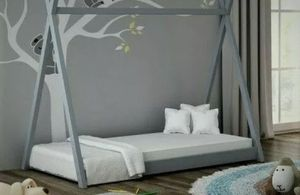 Twin over Twin Wood Bunk Bed with Trundle and Storage Ladder Bed Frame BS for Sale in Pittsburg, CA