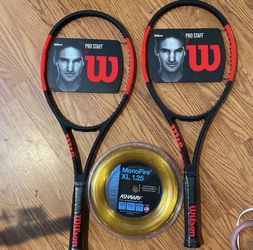 Two Wilson Pro staff 97 Tennis Rackets, Bag And String for Sale in McLean,  VA