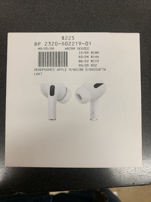 Apple AirPods Pro True Wireless Earbuds (Includes Box, Paper Work, Charger, Ear Tips) Like New Only $225 Plus Tax or $23 Down For Layway!!! for Sale in San Antonio, TX