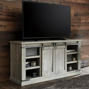 $39 DOWN Carynhurst Whitewash Large TV Stand | W755-48 for Sale in Silver Spring, MD