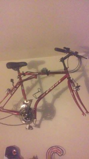 "Vintage 1983 Fuji fold up bike 17"" see. Details folds in half basically for Sale in Chicago, IL"