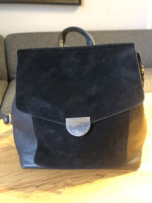 *like new* black leather suede backpack handbag for Sale in Seattle, WA