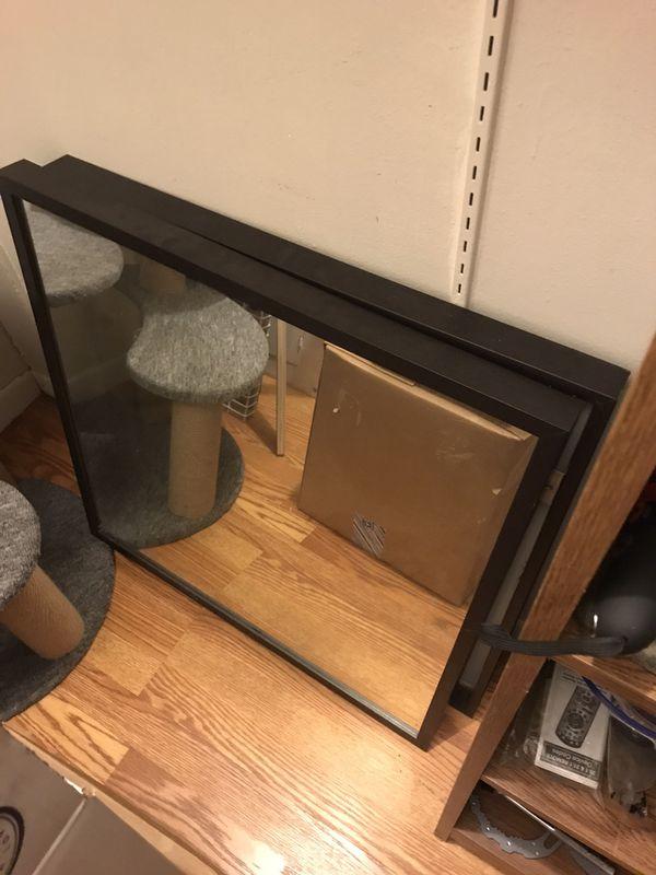 2 ikea mirrors