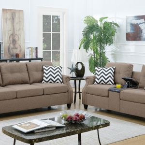 2pcs Sofa & Loveseat w/usb connection set for Sale in Riverside, CA