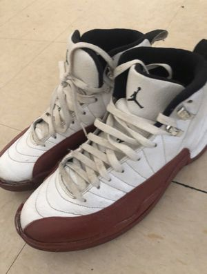 Jordan 12 Cherry - Used, NEEDS restoration, still stiff like its new for Sale in Fresno, CA