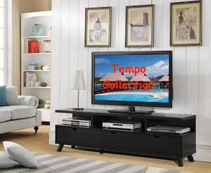 NEW, TV Stand up to 85in TVs, Black, SKU# 151280BLK for Sale in Fountain Valley, CA