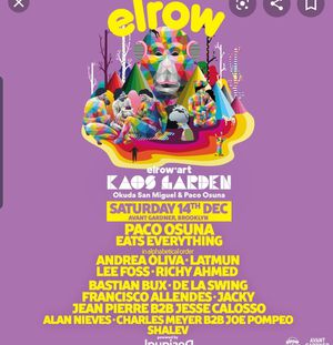 ELROW ART PARTY TICKETS - THIS SATURDAY for Sale in Queens, NY