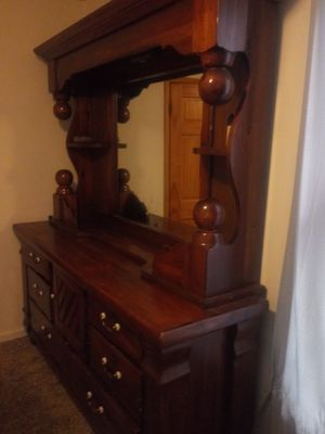Dresser with Mirror and Tall Dresser Stand for Sale in Appleton, WI