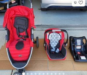 (Britax)Stroller and car seat with base!!! for Sale in Miami, FL