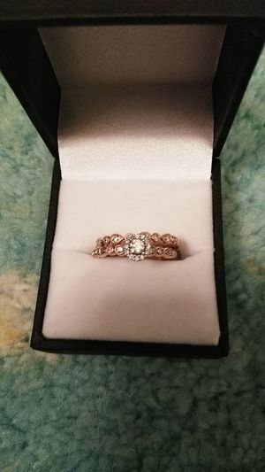 Rose Gold wedding set beautiful rings set for Sale in Knoxville, TN