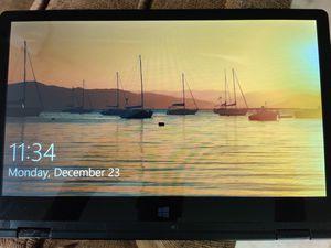 "EVOO 11.6"" Convertible Touchscreen Laptop, Windows 10, 32GB Storage, Mini HDMI, Webcam, Black for Sale in Gresham, OR"