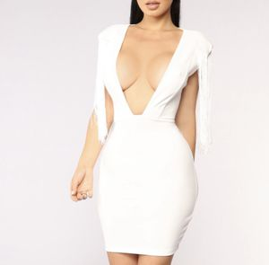 Fashion Nova White Fringe Dress for Sale in Houston, TX