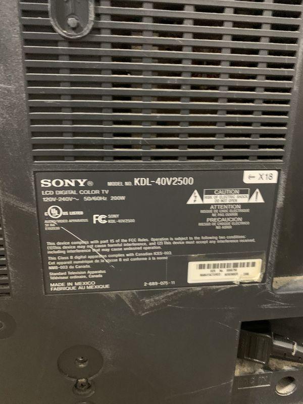 Sony TV Bravia 40 inch