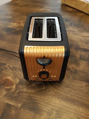 Eco + Chef toaster 2 slice black and copper, like new for Sale in Chandler, AZ