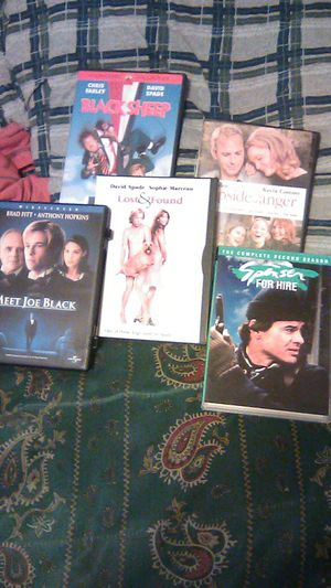 DVD movies five classic (Meet joe Black) Lost&found,Black Sheep,The upside of anger, Spenser for hire series. for Sale in Kissimmee, FL